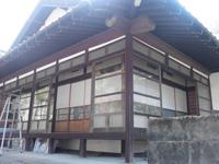 広縁の窓サッシ