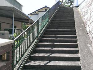 屋外階段と段差の解消