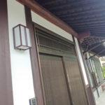 玄関エクステリア照明の設置